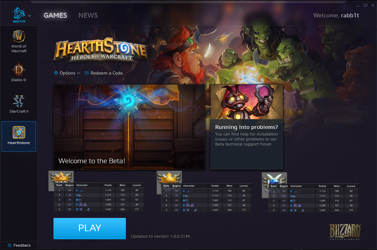 Cannot play with friends in different region? - Hearthstone